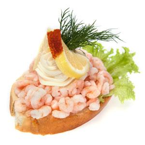 Smørrebrød med rejer- Th Sørensens online bestilling