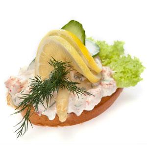 Smørrebrød med Krebsehalesalat- Th Sørensens online bestilling