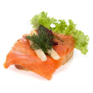 Smørrebrød laks med asparges- Th Sørensens online bestilling