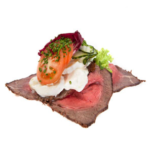Smørrebrød roastbeef med kartoffelsalat - Th Sørensens online bestilling