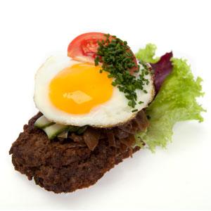 Smørrebrød hakkebøf - Th Sørensens online bestilling