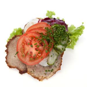 Smørrebrød frikadelle med kartoffelsalat - Th Sørensens online bestilling