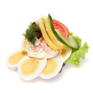 Smørrebrød æg og rejer - Th Sørensens online bestilling