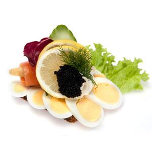 Smørrebrød æg og laks- Th Sørensens online bestilling